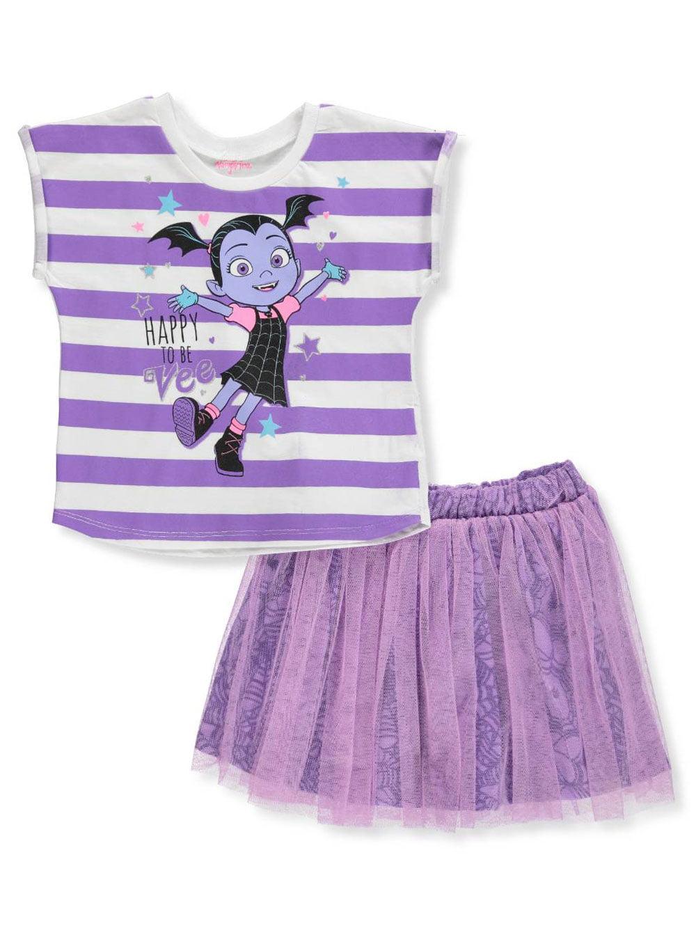 Disney Vampirina Girls 2-Piece Skirt Set Outfit