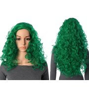 Onedor Natural Curly Wavy Full Head Cosplay Wig (T2615 -Green)