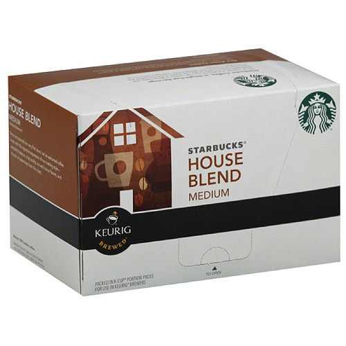 Starbucks House Blend Medium Keurig Brewed K-Cups Ground Coffee, 10 count, (Pack of 6)