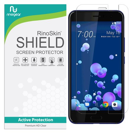 HTC U11 Screen Protector RinoGear Flexible HD Crystal Clear Anti-Bubble Unlimited Replacement Film (Hkc Replacement Screen)