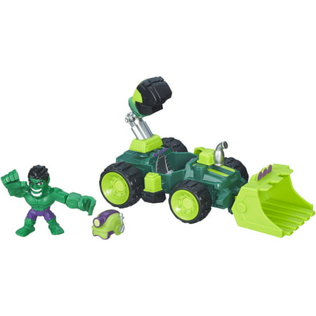 Marvel Super Hero Mashers Hulk SMASH-DOZER Vehicle and Figure - Supper Hero