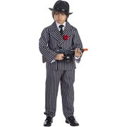Dress Up America 781-T4 Pinstriped Gangster Boys Costume, T4