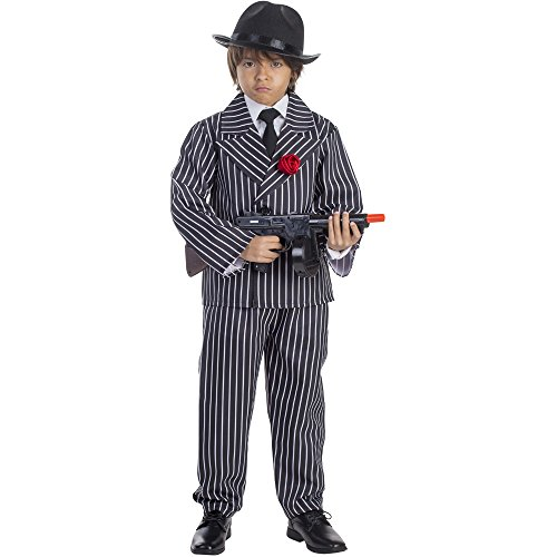 Pinstriped Gangster Costume - Size Toddler 4