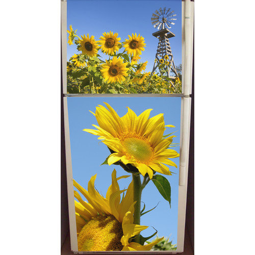 Appliance Art Sunflowers Top and Bottom Refrigerator Cover