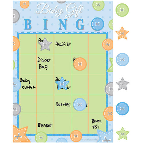 Cute as a Button Boy Bingo Games, 10-Pack