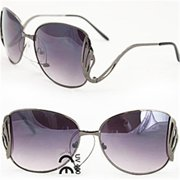Soul Wireless M9231Black Women Fashion Sunglasses M9231 Metallig Grey Lightweight Metal Frame with Elegant Design