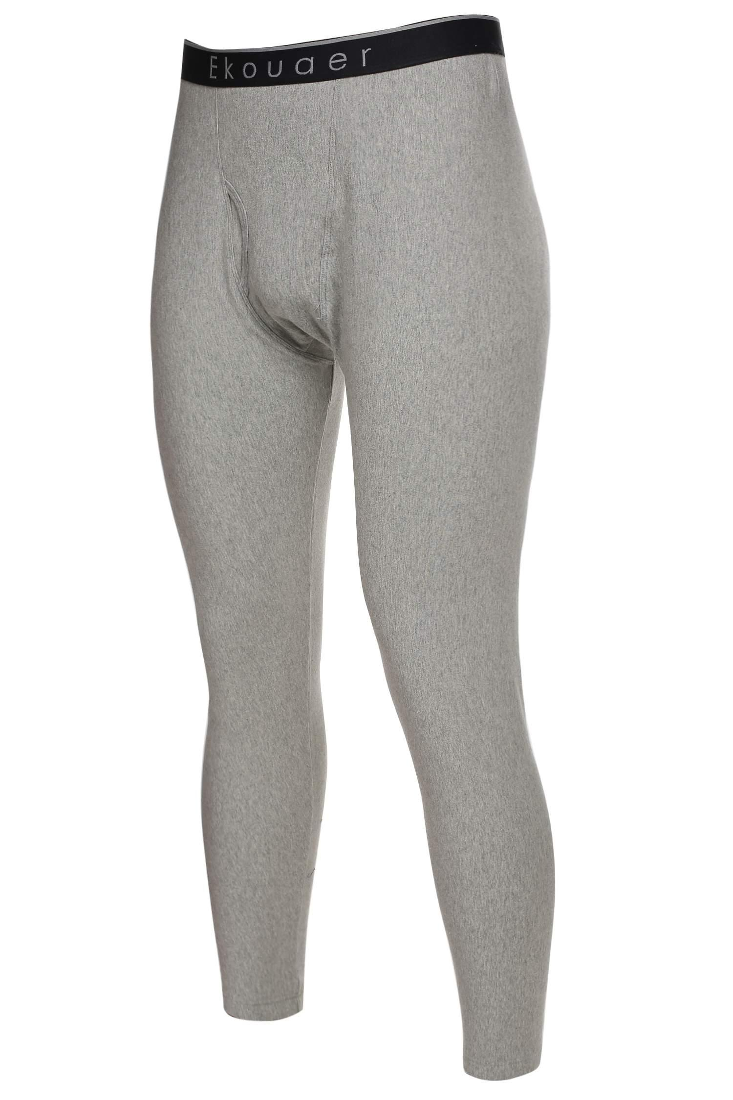 Mens Warm Thermal Underwear Pants Bottoms Mid-Weight by