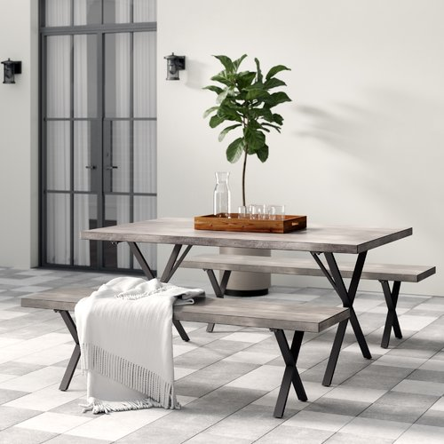 Greyleigh Noreen 3 Piece Outdoor Dining Set