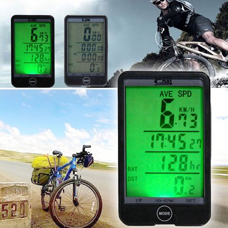TSV Backlight LCD Wired Cycle Computer Speedometer Odometer For Bicycle -