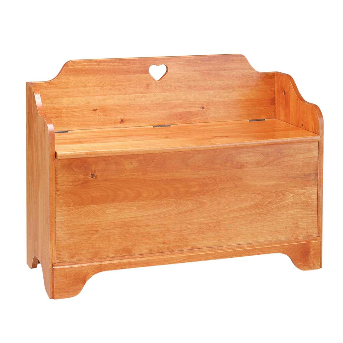 Linen Chest Heirloom Pine Heart Chest Bench   Renovator's Supply