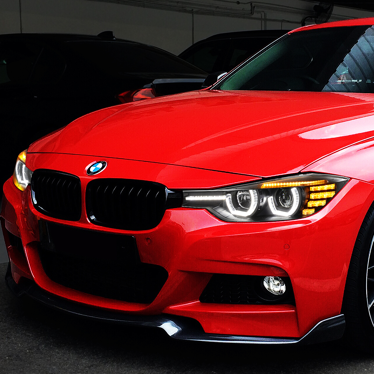 For 12 16 Bmw F30 3 Series 3d Led Halo Led Drl Light Bar Projector