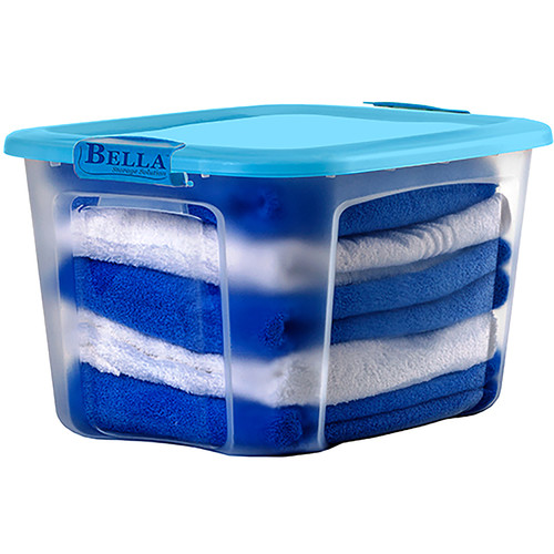 Bella Storage Solution Locking Lid Storage Box (Set of 4)