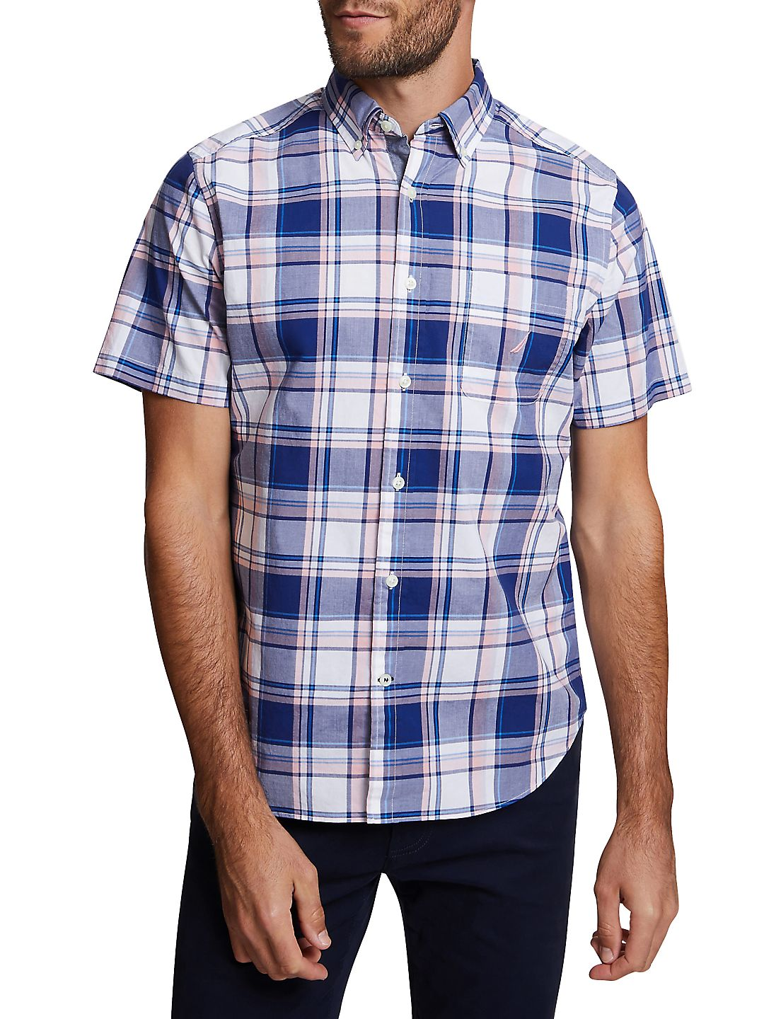 Classic-Fit Plaid Button-Down Shirt
