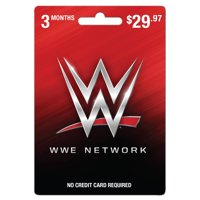 WWE 3 month Gift Card (email delivery)