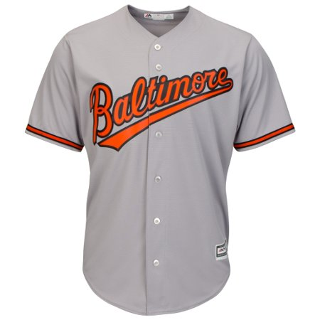 Baltimore Orioles Majestic Official Cool Base Jersey - Gray Baltimore Orioles Womens Replica Jersey
