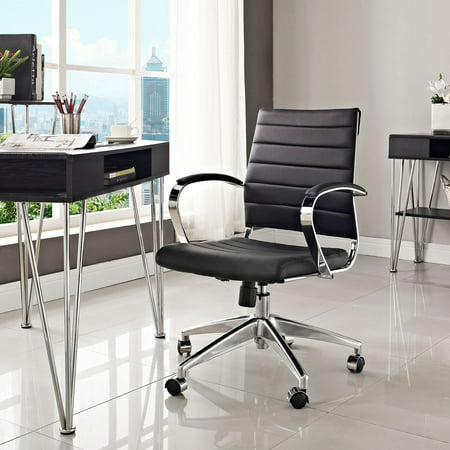 Modway Jive Mid Back Leatherette Office Chair  Multiple Colors