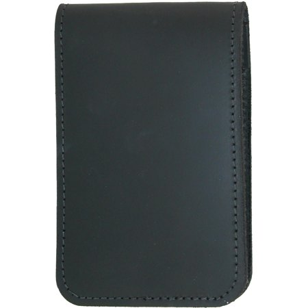 Size one size Smooth Leather Note Pad Holder, Black