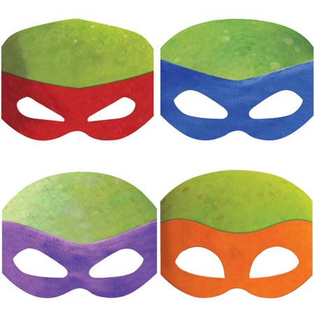 Teenage Mutant Ninja Turtles Party Masks, - Michael Angelo The Ninja Turtle