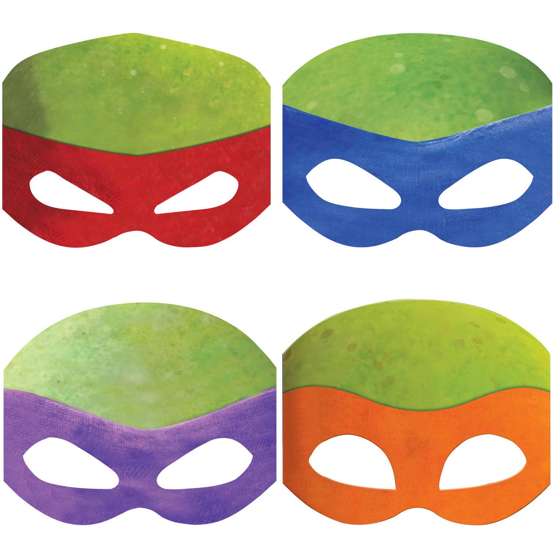 Teenage Mutant Ninja Turtles Party Masks, 8ct