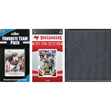 C&I Collectables NFL Tampa Bay Buccaneers Licensed 2015 Score Team Set and Favorite Player Trading Card Pack Plus Storage Album (Tampa Costume Stores)