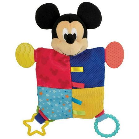Kids Preferred Disney Baby Mickey Mouse Flat Blanky Teether