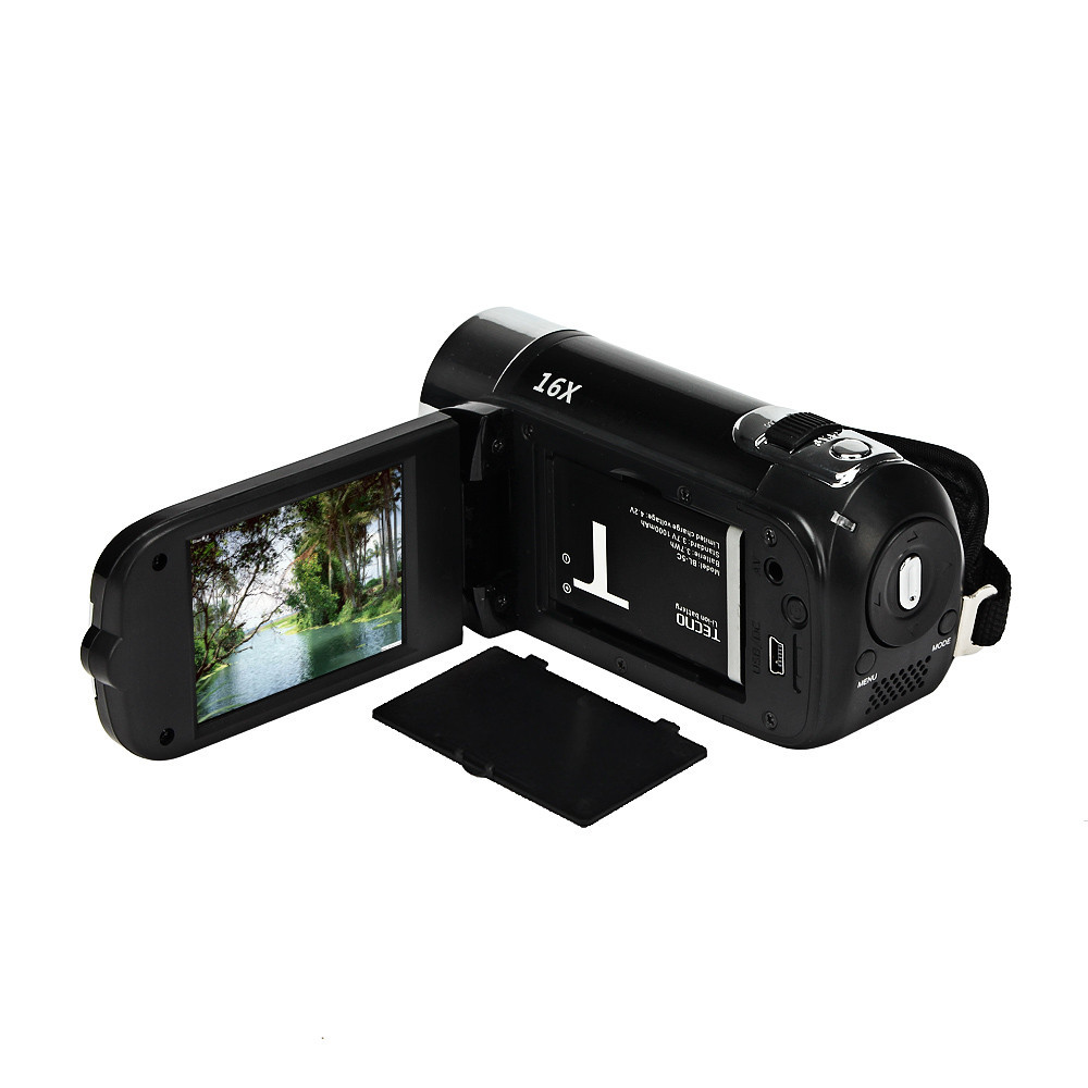 Mosunx HD 1080P 16M 16X Digital Zoom Video Camcorder Camera DV Black