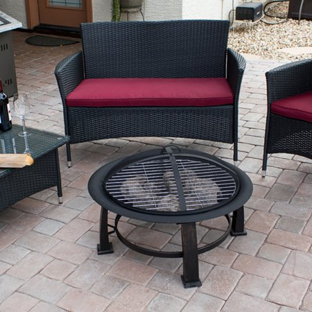 Az Patio Heaters Wood Burning Fire Pit With Cooking Grate
