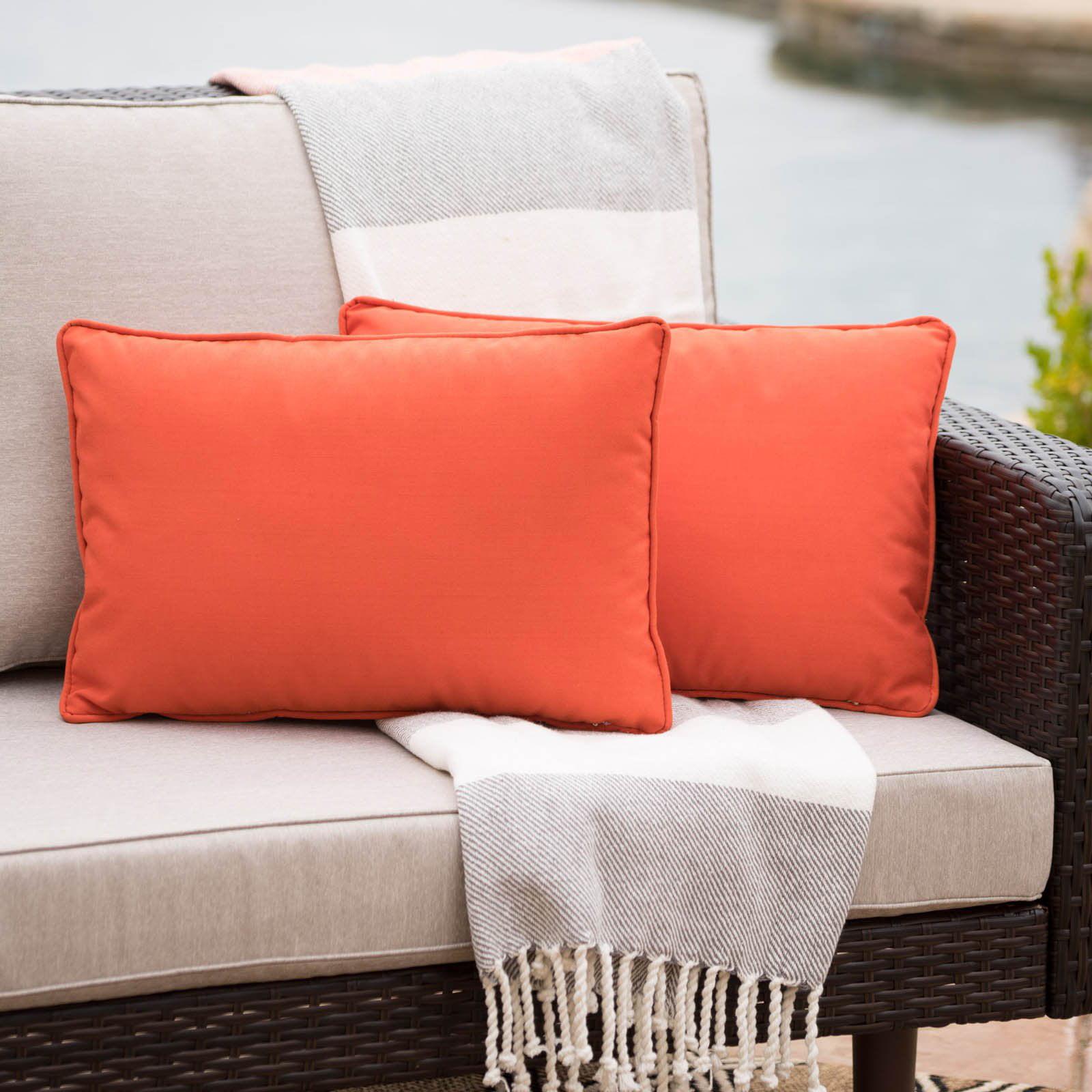 Coronado Outdoor Rectangular Water Resistant Pillow - Set of 2