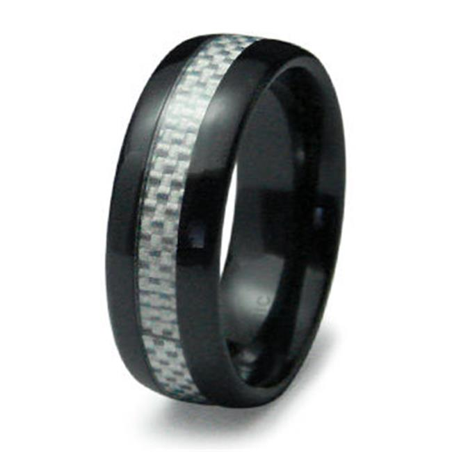 EWC R40005-110 Ceramic Ring with Carbon Fiber Inlay - Size 11