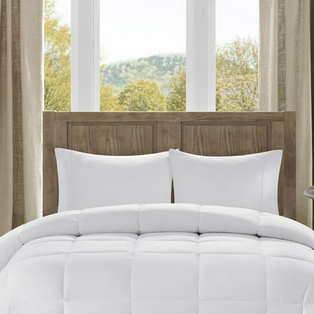 Westport Percale Down Alternative Comforter (Full/Queen) White 300 Thread Count Cotton