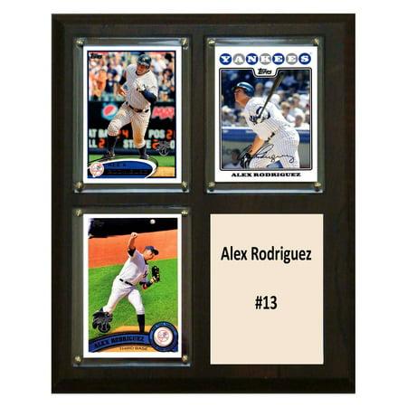 Alex Rodriguez Mlb Baseball (C&I Collectables MLB 8x10 Alex Rodriguez New York Yankees 3-Card)
