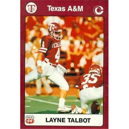 - Layne Talbot Football Card (Texas A&M) 1991 Collegiate Collection No.13