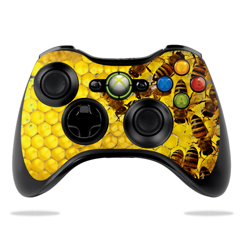 Protective Vinyl Skin Decal Cover for Microsoft Xbox 360 Controller wrap sticker skins Honey