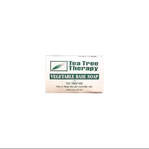 Soap-Vegetable Base With Tea Tree Tea Tree Therapy 3.5 oz Bar Soap