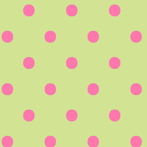 VIP Fabrics Dots Fabric, Pink on Green