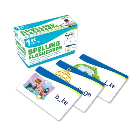 1st Grade Spelling Flashcards : 240 Flashcards for Building Better Spelling Skills Based on Sylvan's Proven Techniques for Success (First Grade Addition Flash Cards)