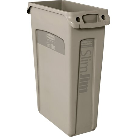 Rubbermaid Commercial, RCP354060BG, Venting Slim Jim Waste Container, 1, Beige
