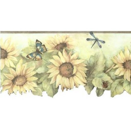 879483 Scalloped Sunflower Wallpaper (Clouds Scalloped Border)