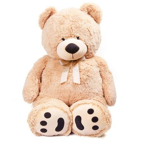 Big Teddy Bear, Cute Soft Large Stuffed Animal Plush Toy, Birthday Gifts for Kids, Beige, 3.3 Feet (39 inches) - Mermaid Stuff For Kids