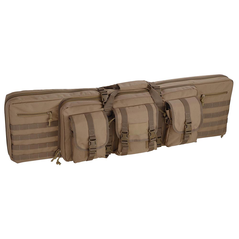 """42"""" Tactical Dual Rifle Gun Bag Case Carbine Soft Case Padded Oxford w/ Backpack Straps Multiple Color"""