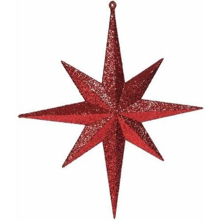 "Vickerman 12"" Glitter Bethlehem Star Christmas Ornaments, Pack of 2"
