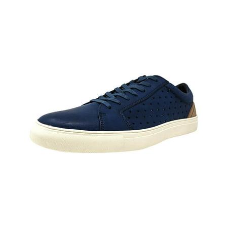 Steve Madden Men's Branlin Navy Ankle-High Leather Fashion Sneaker - 12M ()