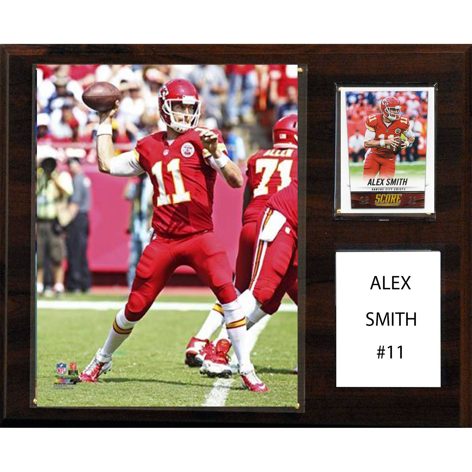 C&I Collectables NFL 12x15 Alex Smith Kansas City Chiefs Player Plaque
