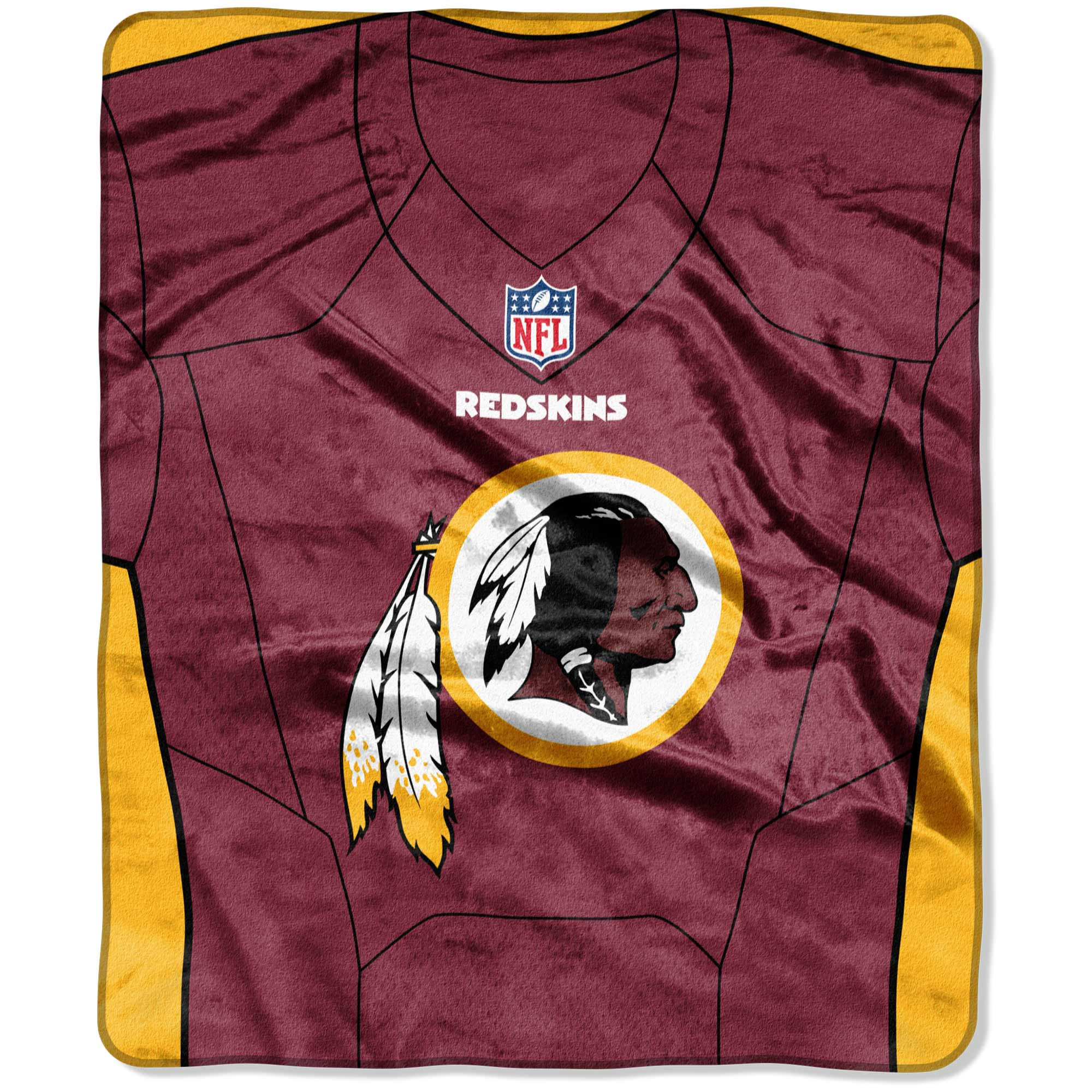 "Washington Redskins The Northwest Company 50"" X 60"" Jersey Plush Blanket - No Size"