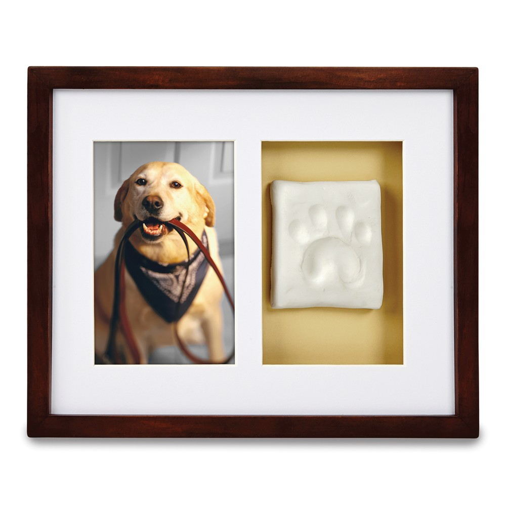 Espresso Pawprints Wall Frame by