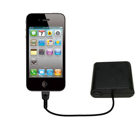 Portable Aa Battery Charger - Portable Emergency AA Battery Charger Extender suitable for the Apple iPhone 4S - with Gomadic Brand TipExchange Technology