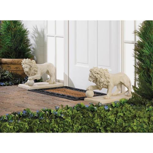 BSD National Supplies Elegant Outdoor Lion Sculptures by Overstock