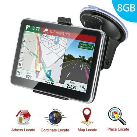 Marine Navigation System - GPS Navigation for Car, TSV 5 Inch GPS Navigator Touchscreen Car GPS Navigation System with 8GB Memory, Lifetime Map Update, Driving Alarm, Voice Steering