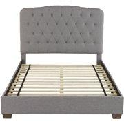 Libson Linen Tufted Twin Platform Bed Frame
