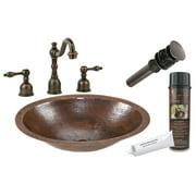 "Premier Copper Products Bsp2_Lo17fdb 11"" Copper Undermount Bathroom Sink - Bronze"